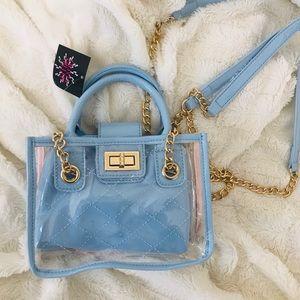 Mini Clear & Baby Blue Designer Inspired Bag 💙✨